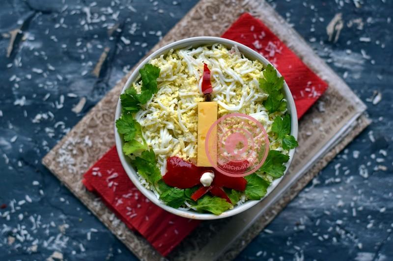 салат с яичными блинчиками рецепт на праздничный стол