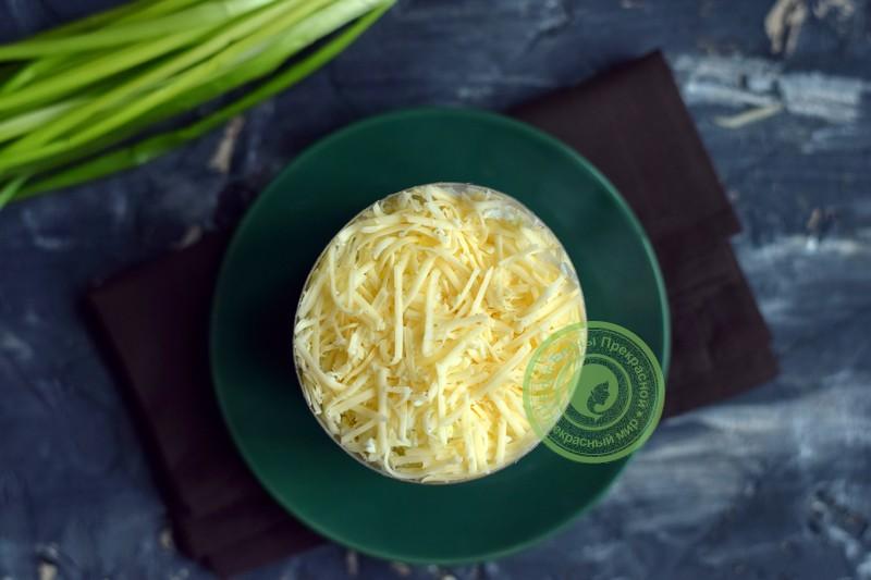 слоеный салат с ветчиной рецепт в домашних условиях