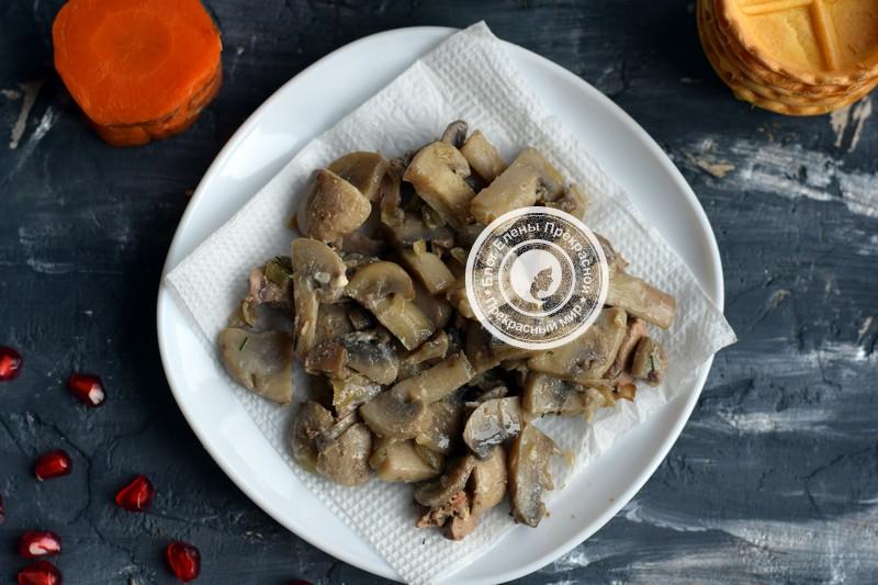 салат с курицей и грибами в тарталетках рецепт с фото