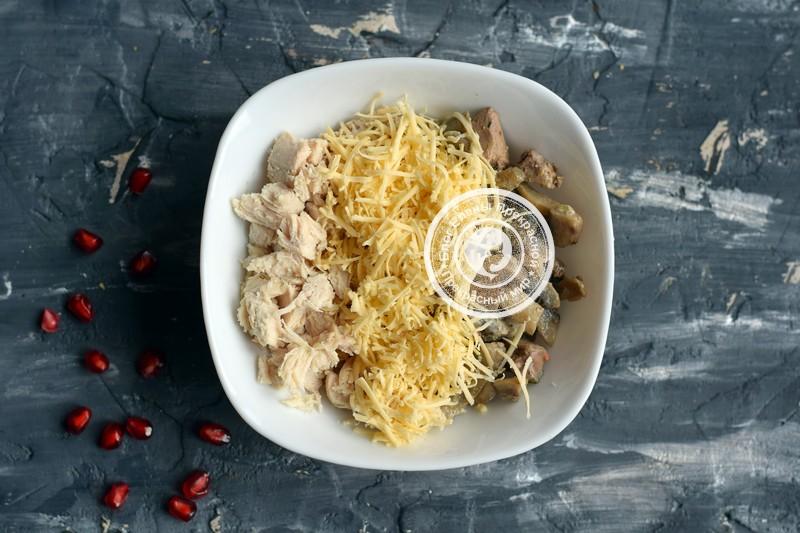 салат с курицей и грибами в тарталетках рецепт в домашних условиях