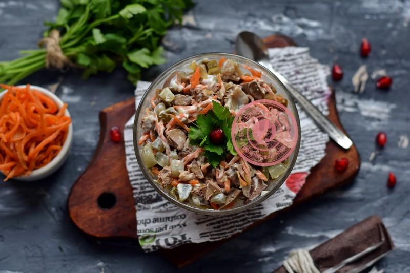 салат с куриной печенью и морковкой рецепт на праздничный стол