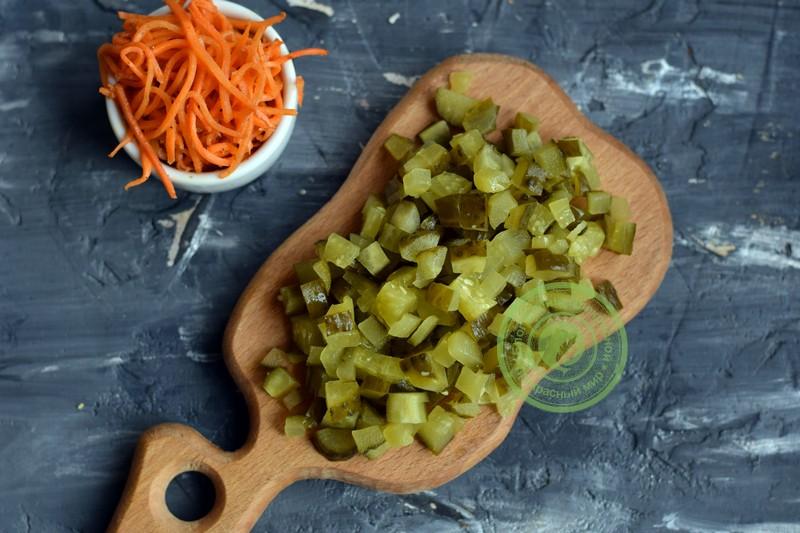салат с куриной печенью и морковкой рецепт
