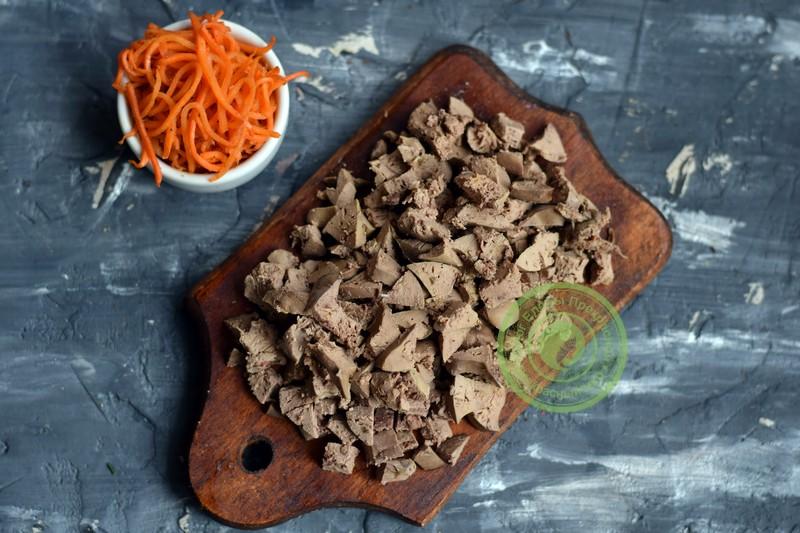 салат с куриной печенью и морковкой рецепт в домашних условиях