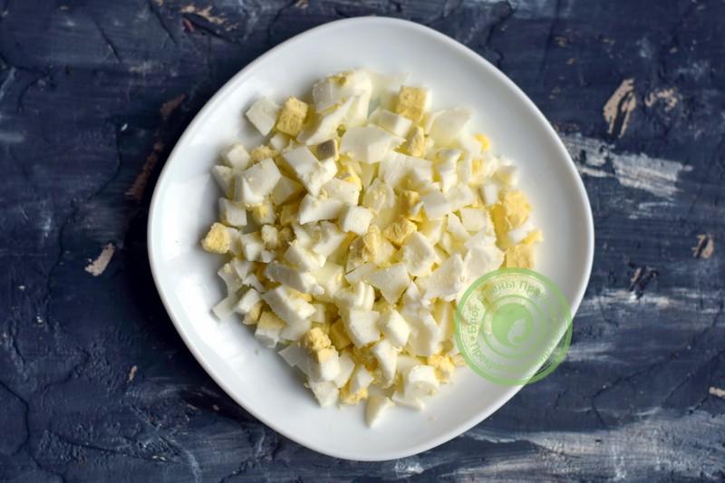 салат с шампиньонами и ветчиной рецепт с фото