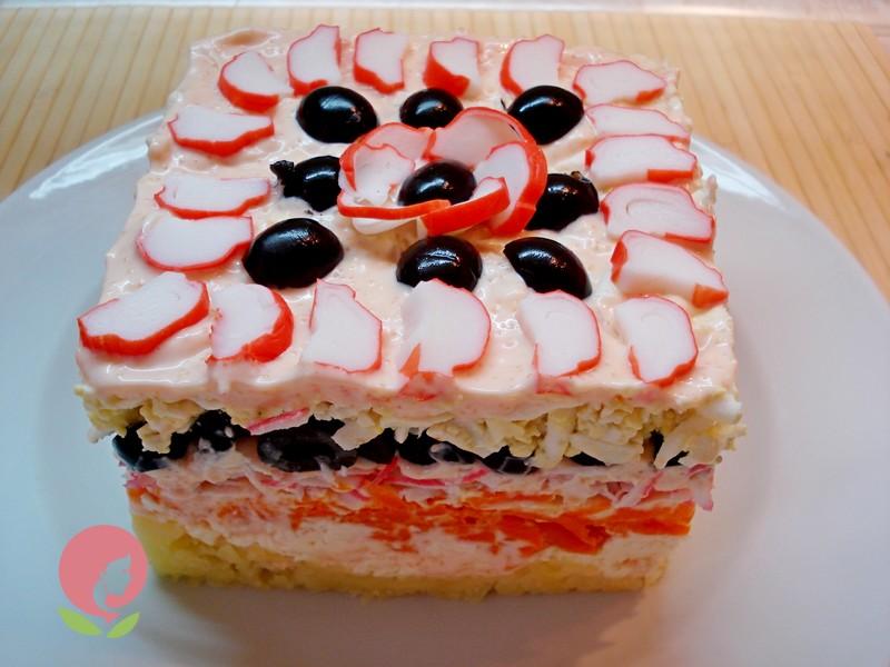 салат торт рецепт с фото в домашних условиях