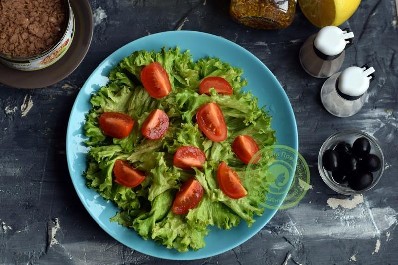 овощной салат с тунцом рецепт