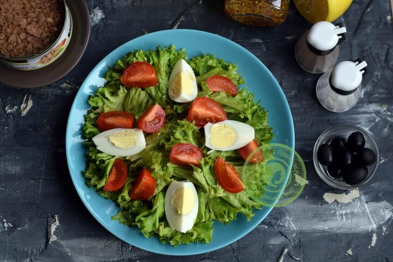 овощной салат с тунцом рецепт с фото