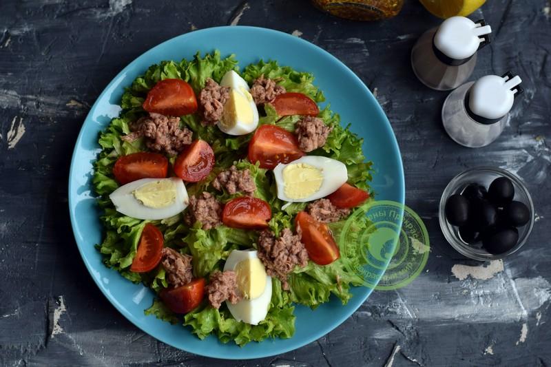 овощной салат с тунцом рецепт на новый год