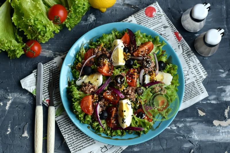 овощной салат с тунцом рецепт на праздничный стол в домашних условиях