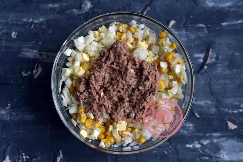 салат с тунцом и рисом пошаговый рецепт