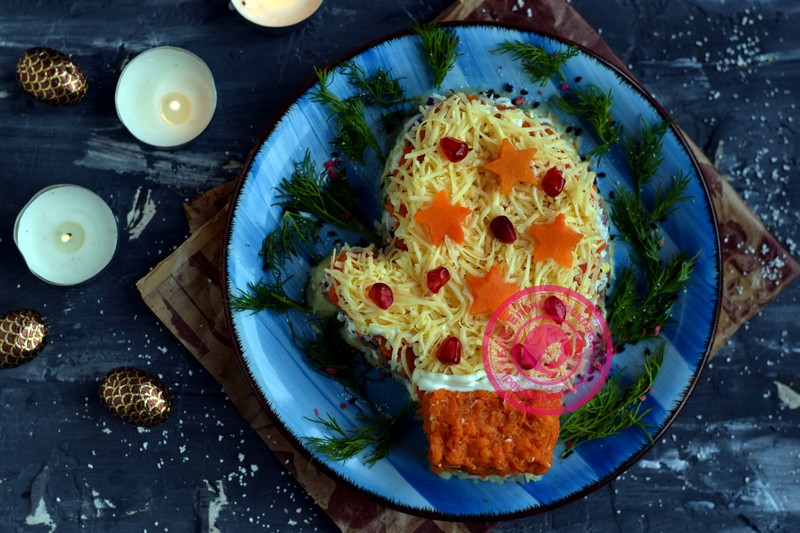 салат Варежка на новый год рецепт в домашних условиях