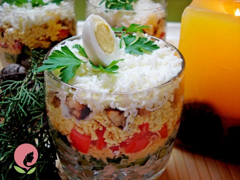 порционный салат рецепт на праздник