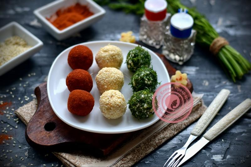 разноцветные сырные шарики рецепт на праздничный стол