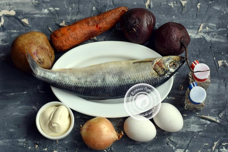 Оригинальный салат сельдь под шубой