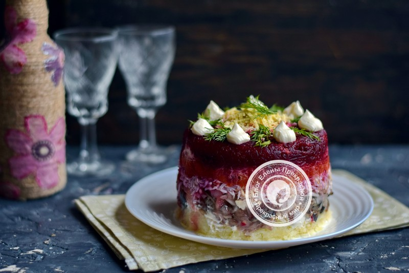 Оригинальный салат сельдь под шубой рецепт в домашних условиях