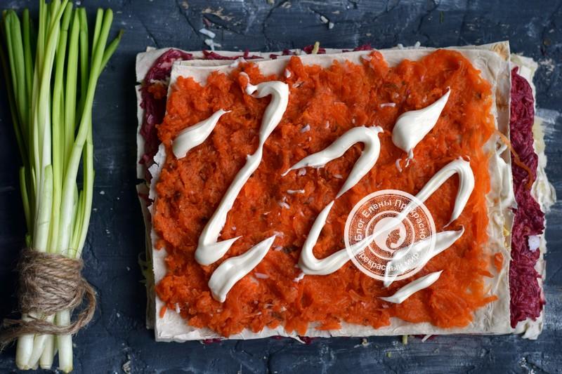 селедка под шубой в лаваше рецепт на новый год