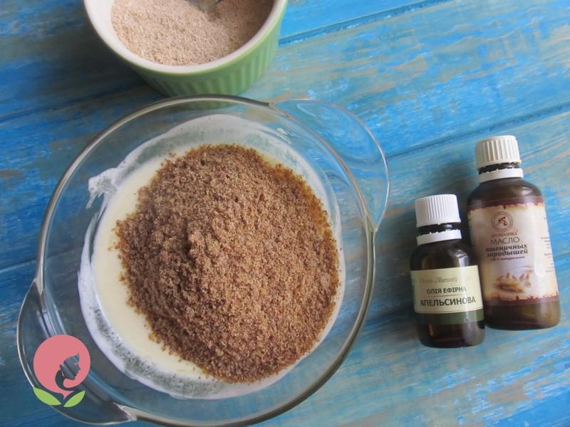 скраб с медом и отрубями рецепт