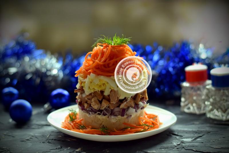 Салат с морковью по-корейски и курицей рецепт на новый год
