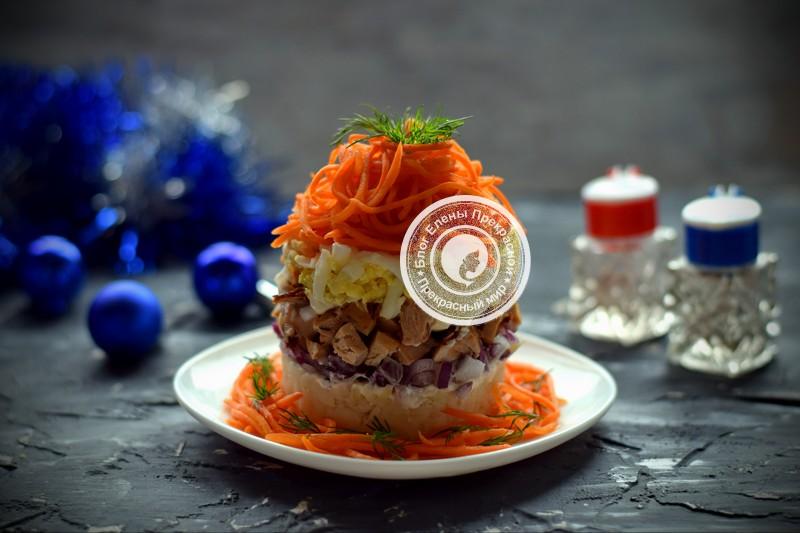 Салат с морковью по-корейски и курицей рецепт