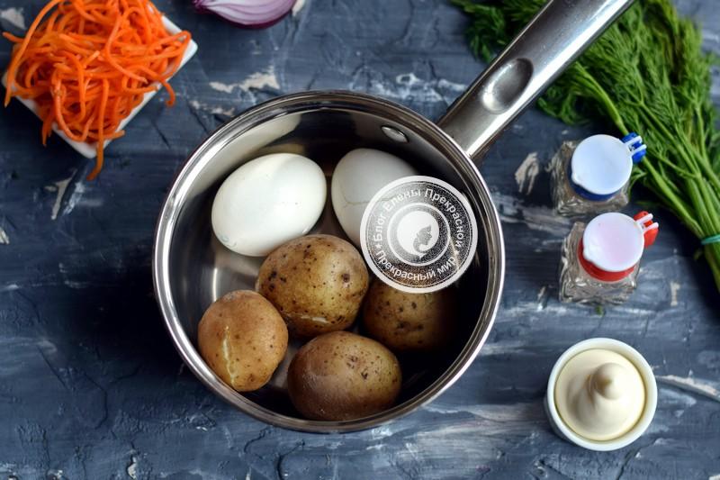 Салат с морковью по-корейски и курицей