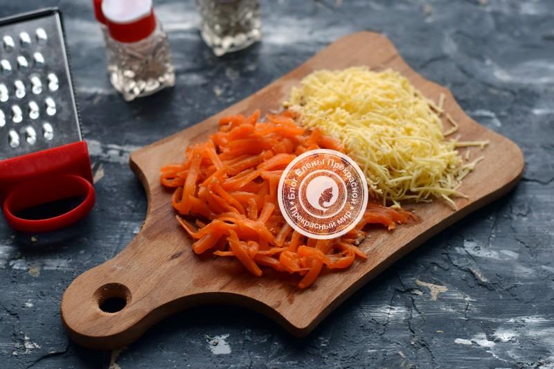 Слоеный салат с печенью трески рецепт с фото