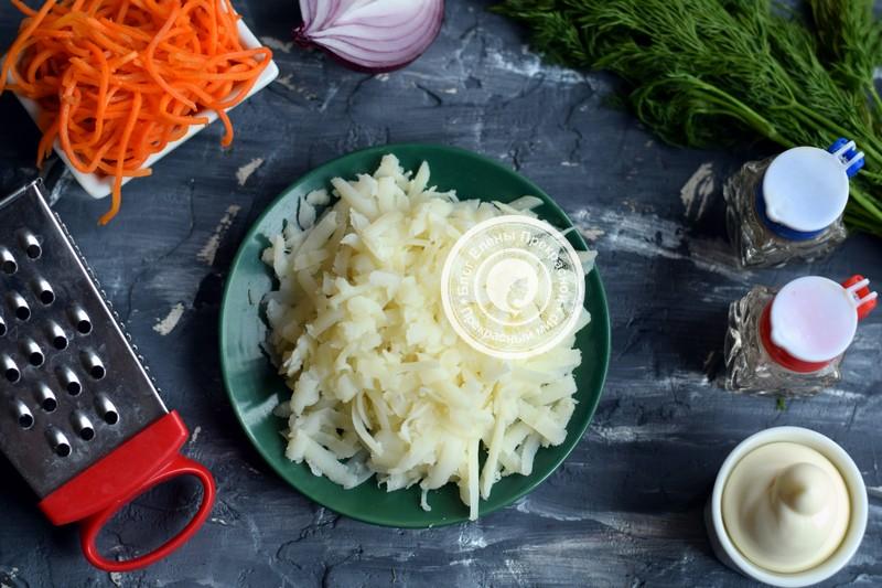 Салат с морковью по-корейски и курицей рецепт с фото