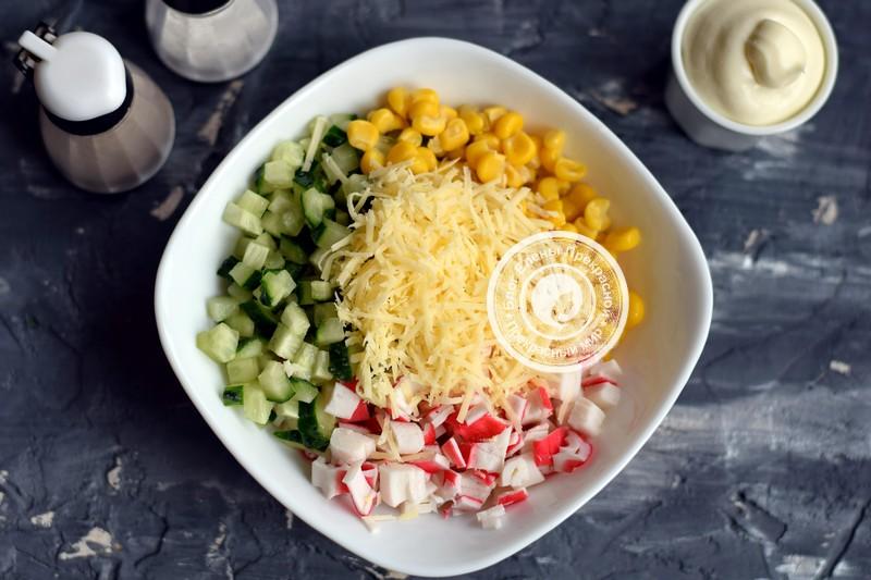 салат Новогодние елочки рецепт в домашних условиях