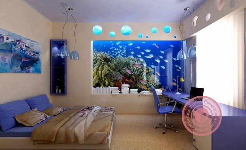 аквариум в спальне по фен шуй