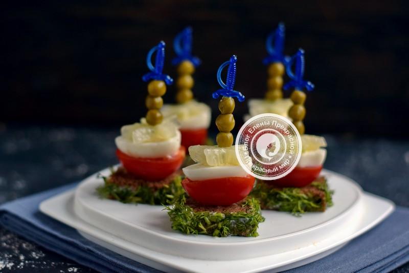 бутерброды с перепелиными яйцами и овощами рецепт на праздничный стол