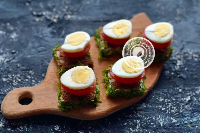 бутерброды с перепелиными яйцами и овощами рецепт в домашних условиях