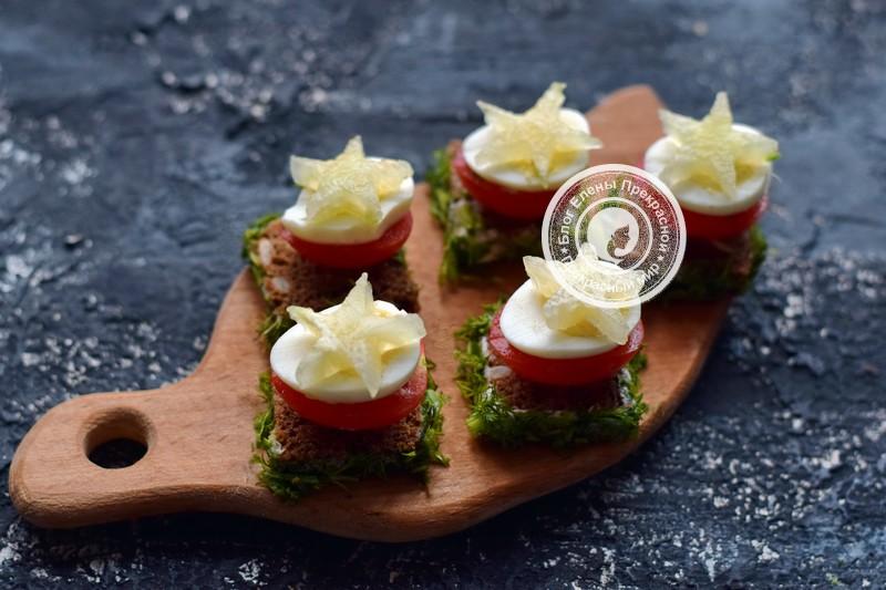 бутерброды с перепелиными яйцами и овощами рецепт на праздник