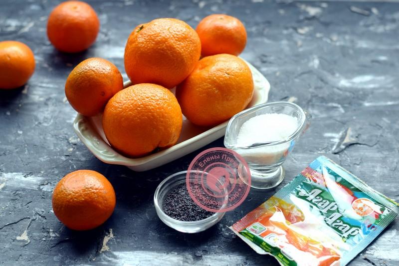 мандариновое варенье с маком