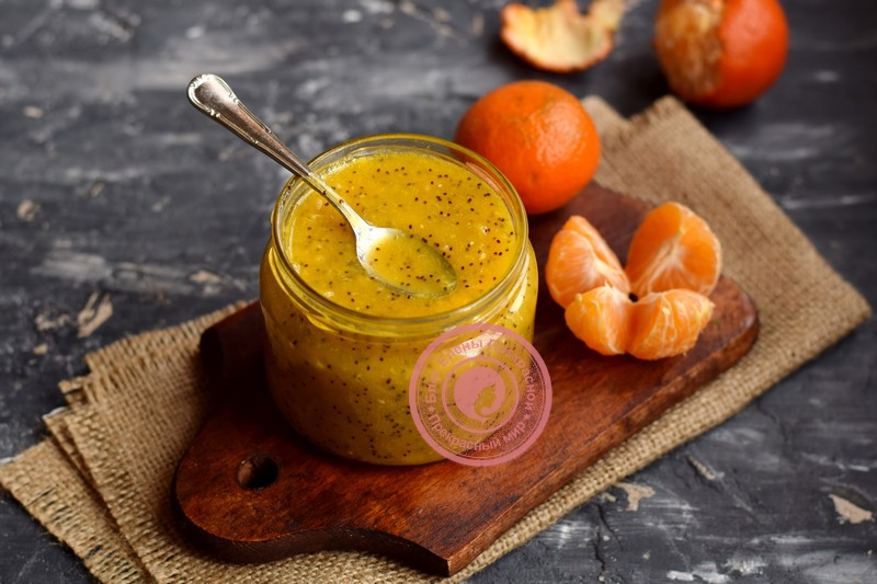 мандариновое варенье с маком рецепт в домашних условиях