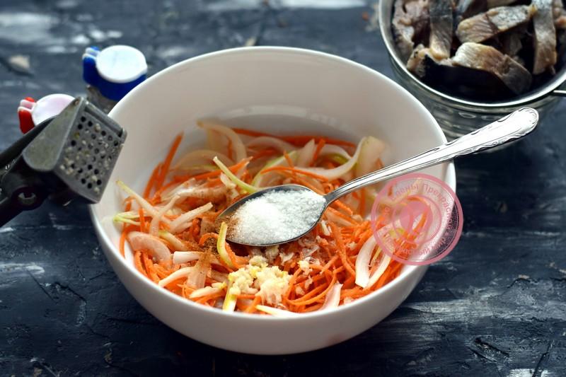салат Хе из селедки рецепт в домашних условиях