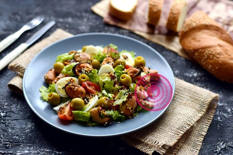 салат с маринованными мидиями рецепт на праздничный стол