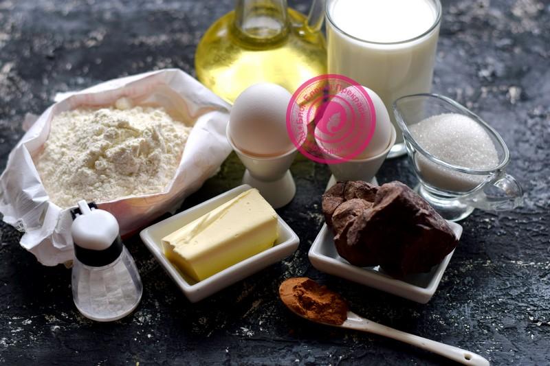 шоколадные блины на молоке