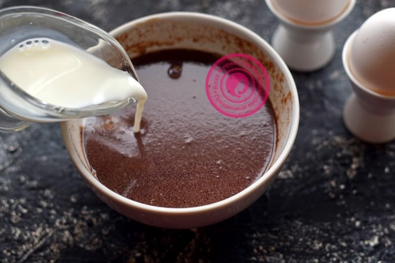 шоколадные блины на молоке рецепт с фото