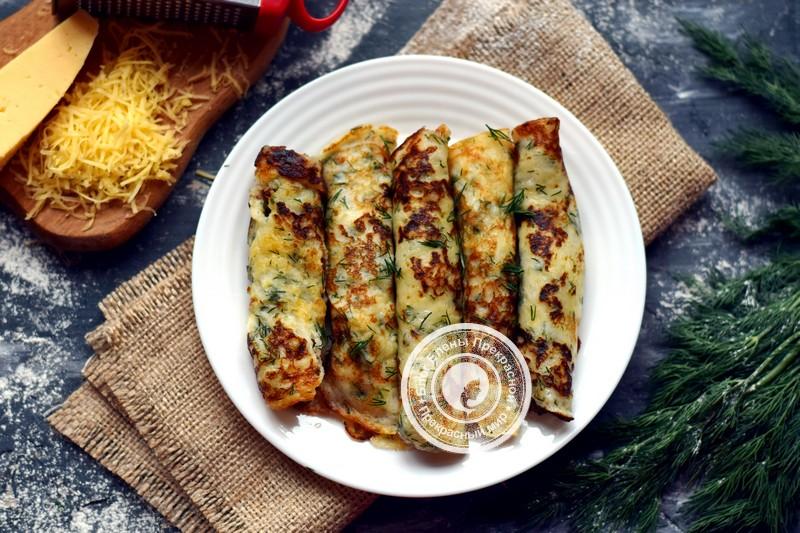 сырные блины с зеленью рецепт в домашних условиях