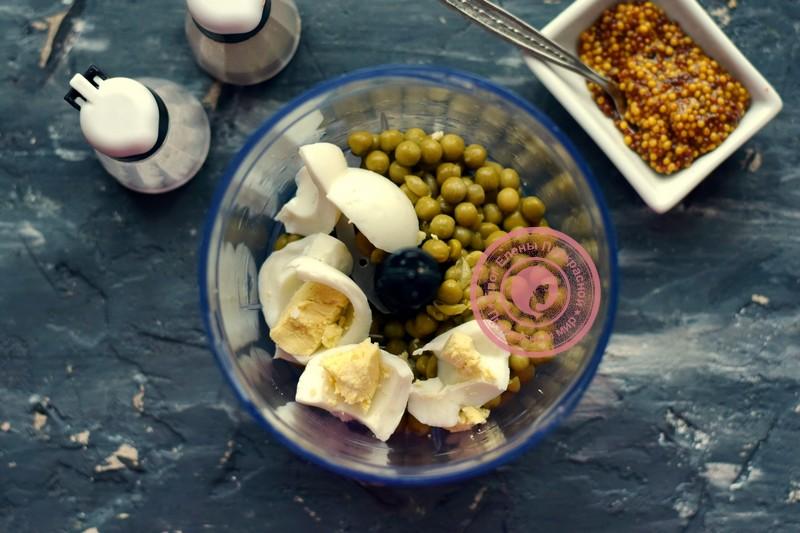 закуска из яиц и горошка рецепт
