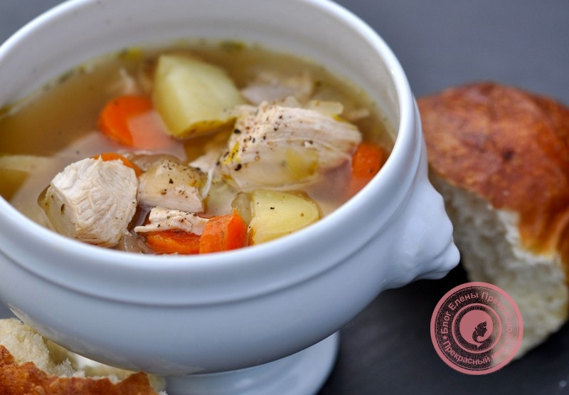 Суп с куриным мясом