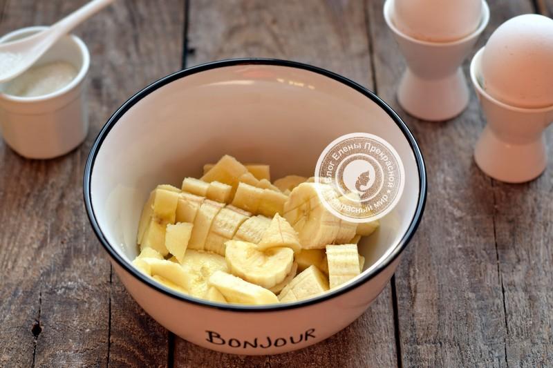 банановые блины на молоке