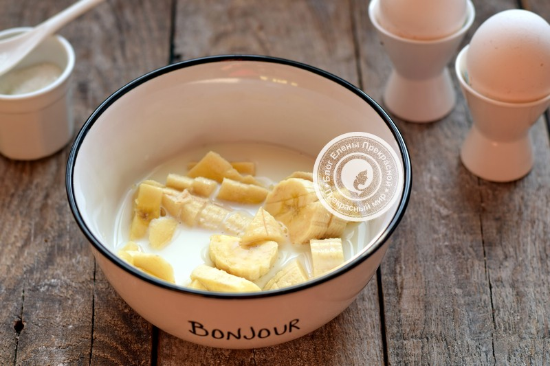 банановые блины на молоке рецепт