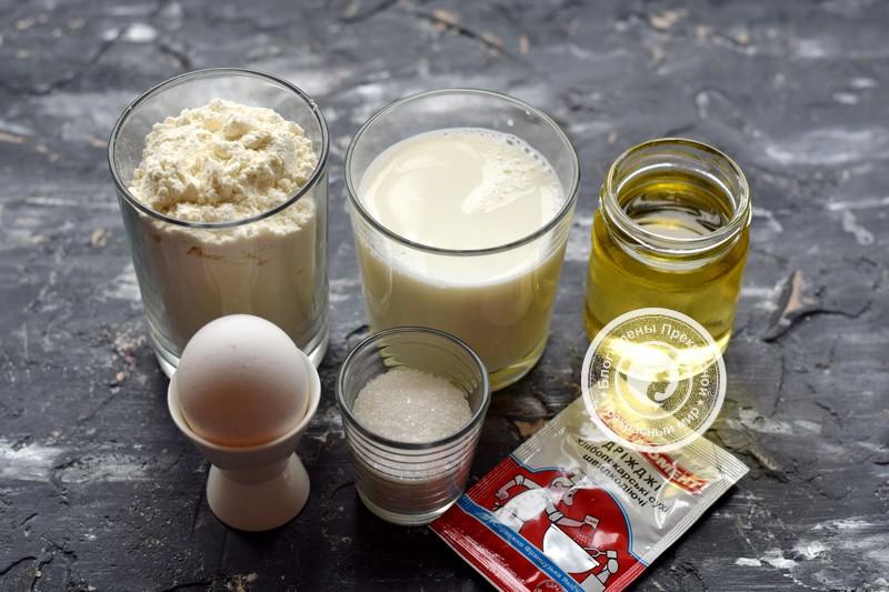 дрожжевые блины на молоке