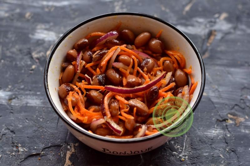 фасолевый салат рецепт в домашних условиях
