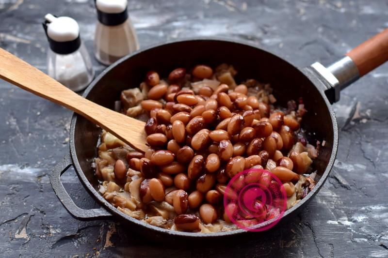 фасоль с грибами в томатном соусе рецепт в пост