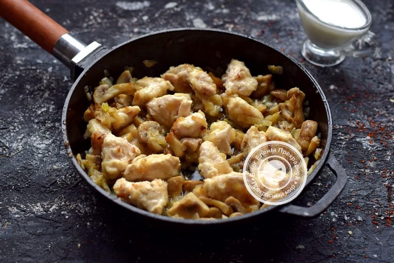 фрикасе из курицы с грибами рецепт в домашних условиях