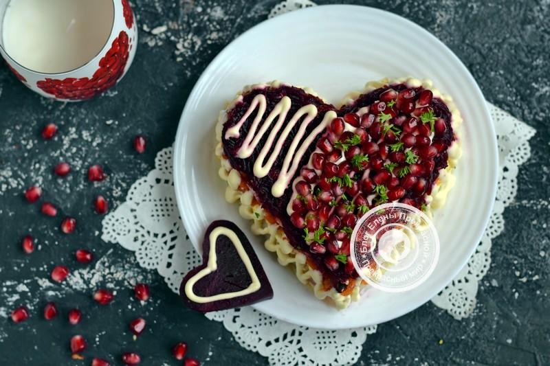 Салат Гранатовое сердце на День влюбленных Святого Валентина: рецепт на праздничный стол