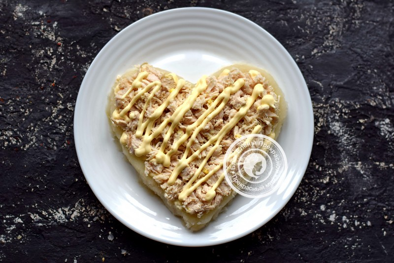 салат гранатовое сердце рецепт
