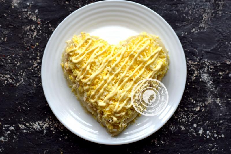 салат гранатовое сердце рецепт с фото