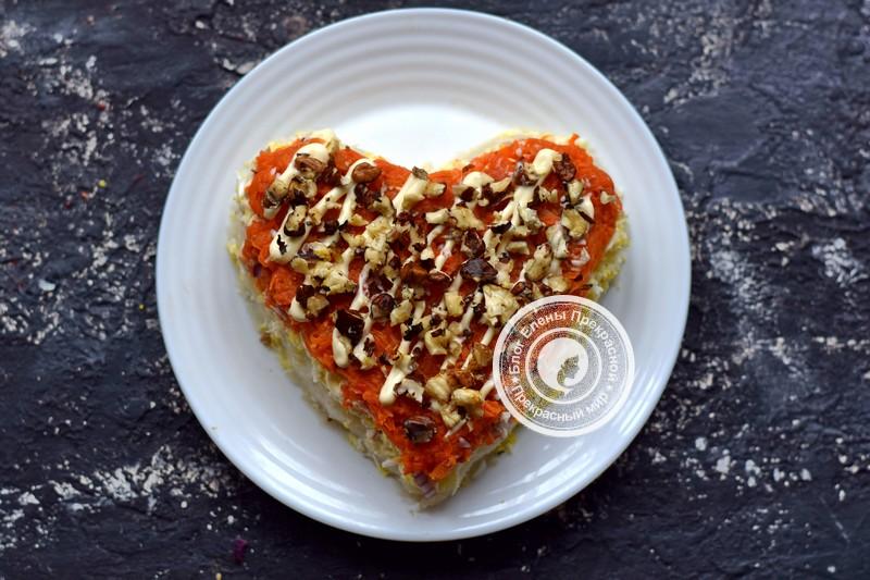 салат гранатовое сердце рецепт на праздничный стол